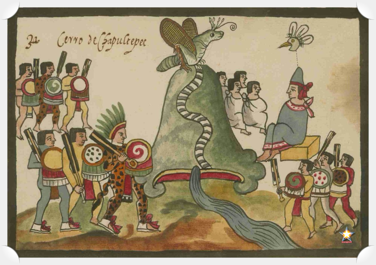 Códice indígena mexicano del cerro de Chapultepec