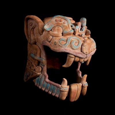 Cabeza tigre Maya