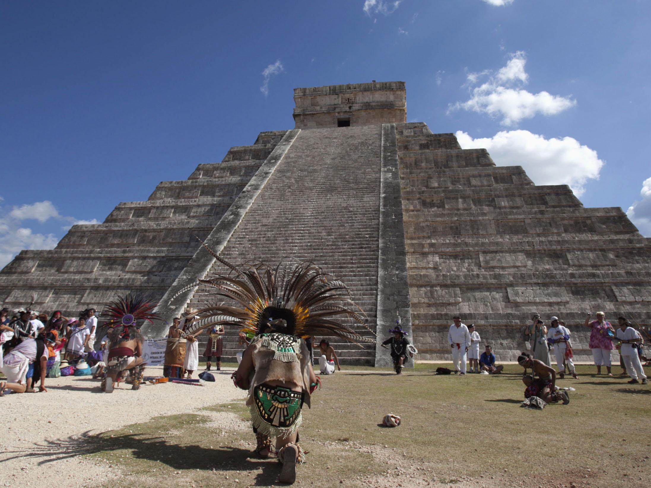 Ofrenda en Chichen Itzá