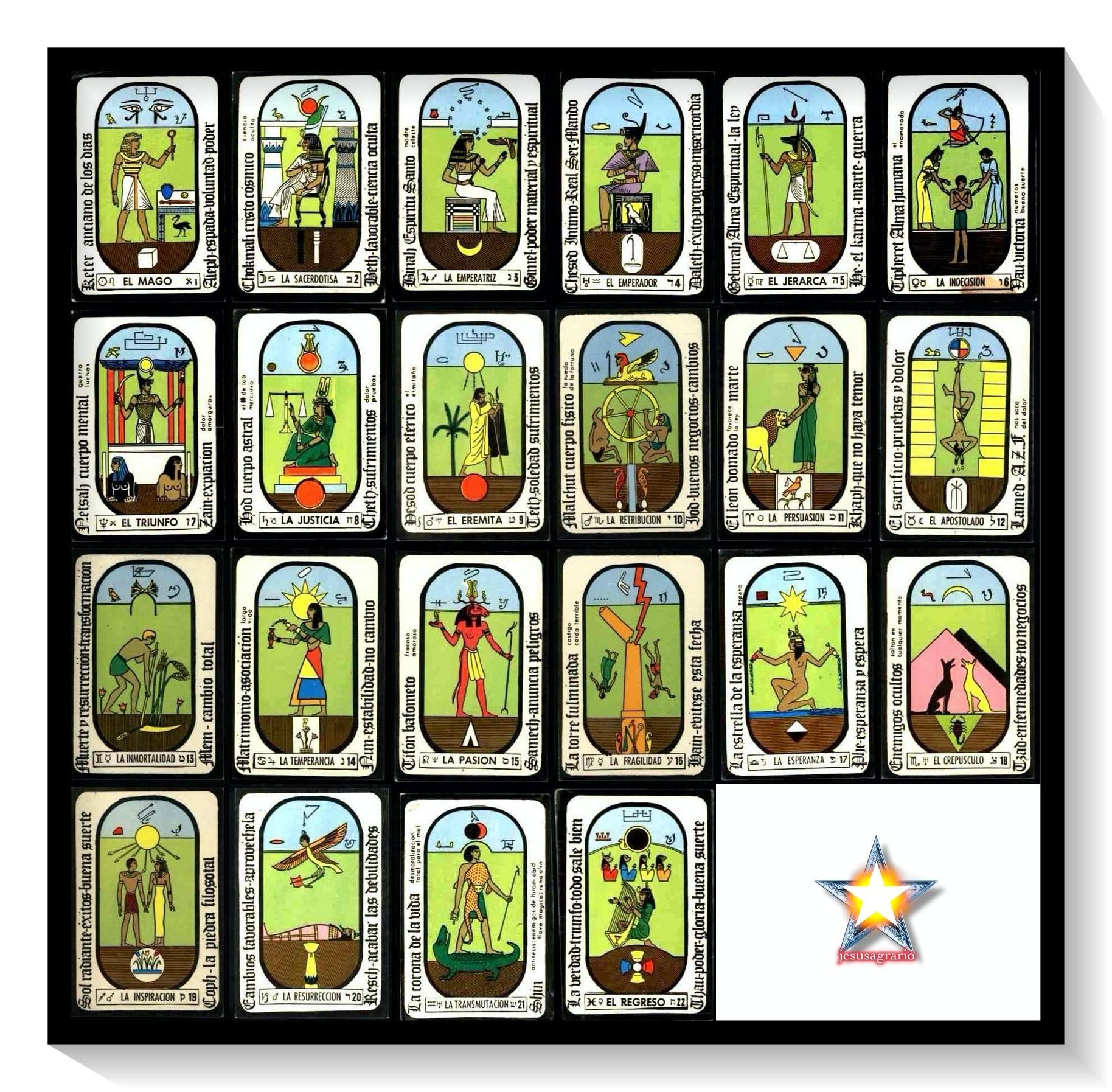 22 cartas tarot