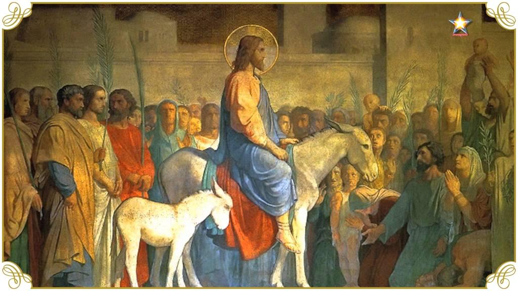 Jesus jerusalem burro