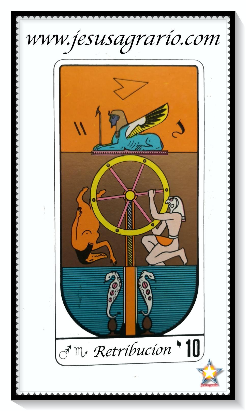 La carta del tarot 10