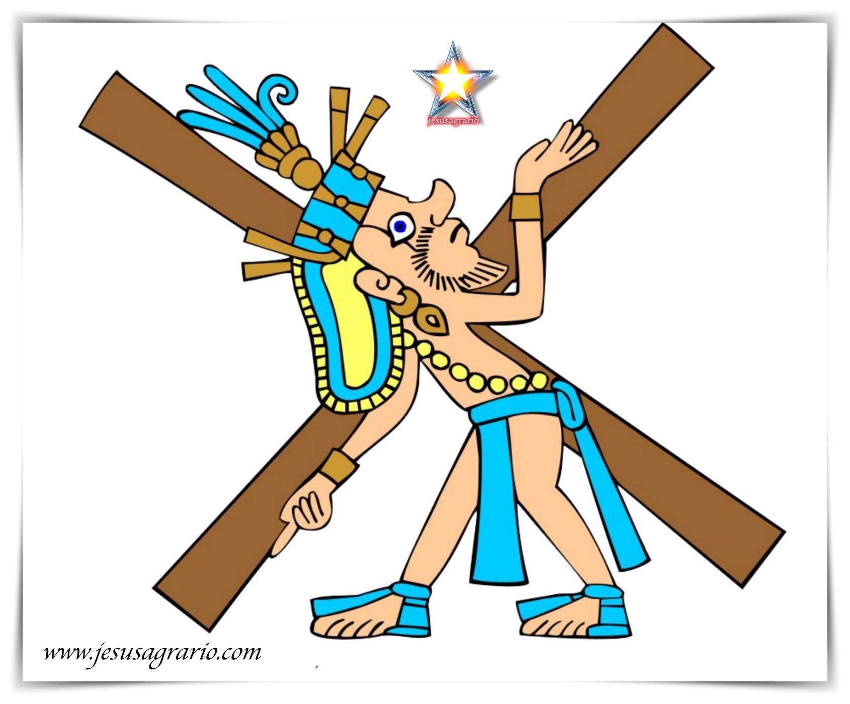 Quetzatlcoatl en la cruz